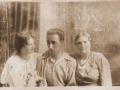 od lewej-Zofia Moskal,Stanisław Kliś - lata 30-te XXw